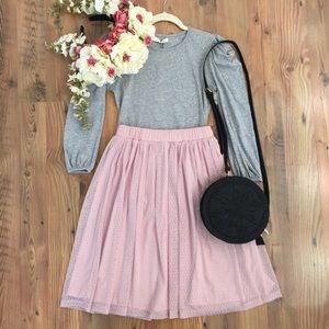 Mikarose Polka Dot Pink Tulle Skirt